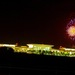 夜のグアム空港と花火。